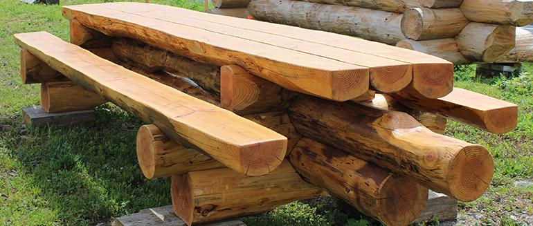 Notre offre de mobiliers en rondins - Wooddome // Bois de chauffe ...